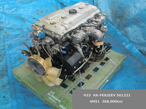 エンジンAy(4M51) 三菱ふそう キャンター KK-FE82EEV [P15008] | 中古